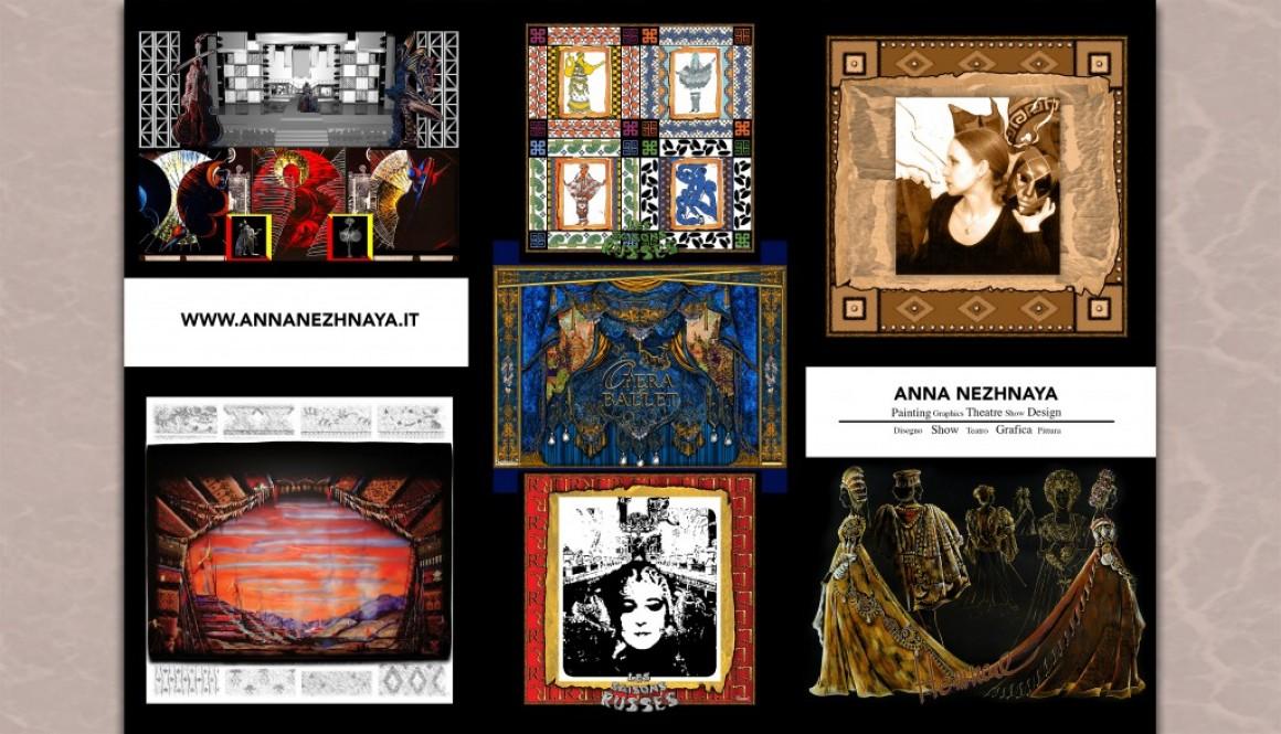 ANNA NEZHNAYA – PAINTING GRAPHICS THEATRE SHOW DESIGN.  THE  BOOKLET.