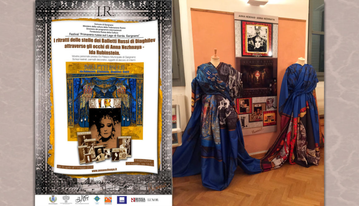 VISION OF THE ARTIST ANNA NEZHNAYA: THE PORTRAITS OF SERGEI DIAGHILEV RUSSIAN BALLET STARS – IDA RUBINSTEIN. THE PERSONAL EXHIBITION IN EX PALAZZO MUNICIPALE IN GARGNANO (ITALY)